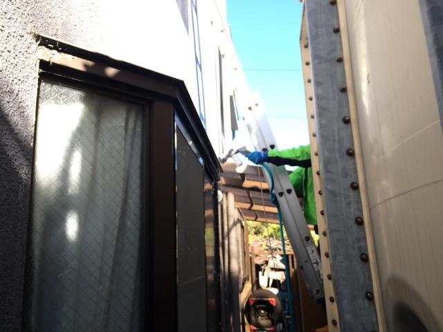 【川口市差間 Y様邸の雨漏り調査】壁・屋上からの雨漏り 屋上は既存塩ビシ-ト防水層