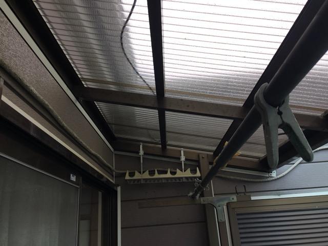 埼玉県川口市 屋根修理(波板の新設) 一般住宅のベランダ工事