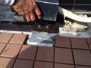 東京都練馬区 一般住宅 屋上 手すりからの雨漏り修理