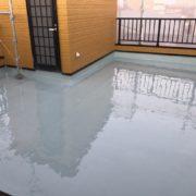ウレタン防水通気緩衝工法の施工完了