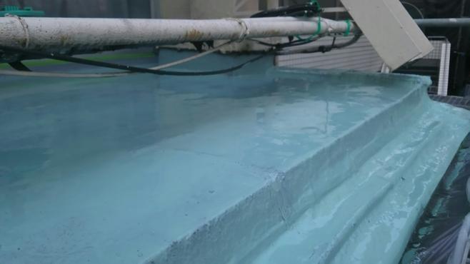 ベランダの雨漏りによる防水工事|東京都新宿区の某アパート