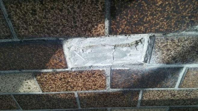 外壁タイルの剥離作業