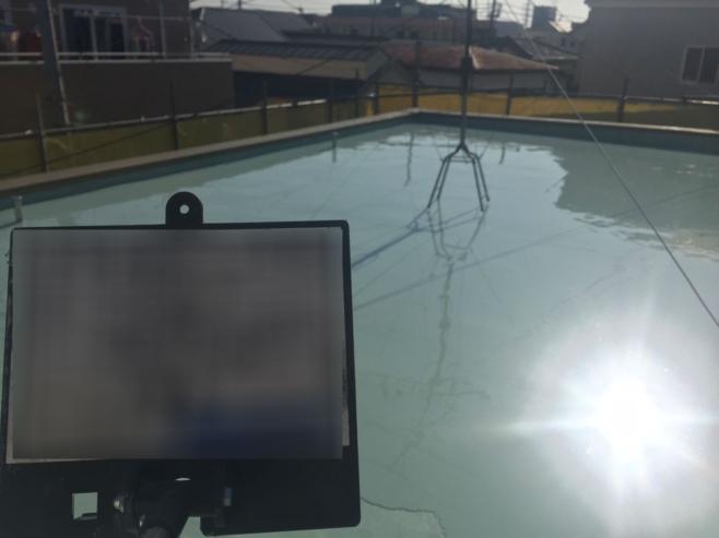 屋上の改修防水工事(エバーコートZero-1Hのウレタン防水)|埼玉県与野市の某集合住宅