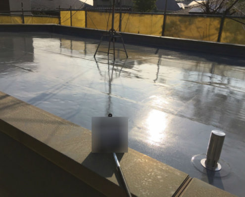 屋上防水の施工完了