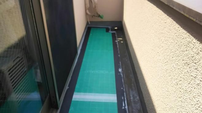 雨漏りによるベランダのウレタン防水工事|東京都品川区のO様邸