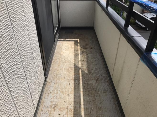 人工芝の撤去・水洗い
