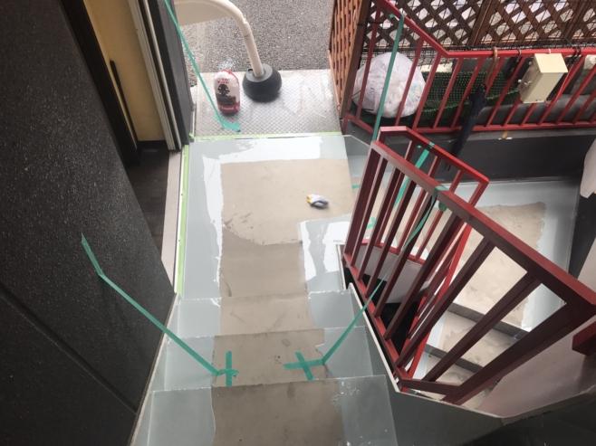 防水材の塗り込み
