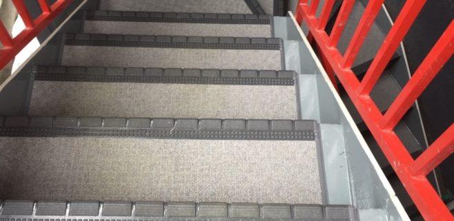 外階段の防水工事・施工完了