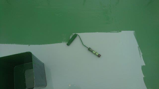 屋上の経年劣化による雨漏りの防水工事(ウレタン防水・通気緩衝工法)|東京都足立区東伊興のY様邸