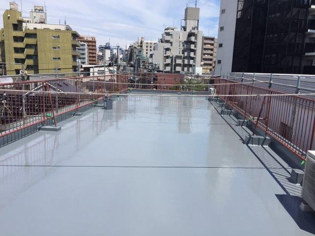 屋上の雨漏りによる防水工事(ウレタン防水・通気緩衝工法)|埼玉県川口市のN様邸