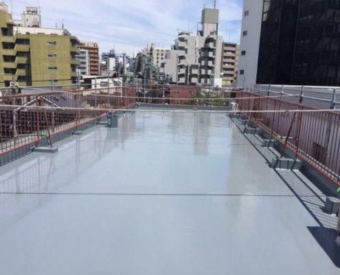 屋上の雨漏りによる防水工事