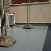 ルーフバルコニーの雨漏り修理(ウレタン防水)