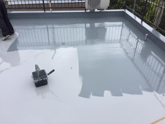 雨漏りによる屋上のウレタン防水工事(通気緩衝工法)|千葉県船橋市南三咲にお住いのK様邸のリフォーム