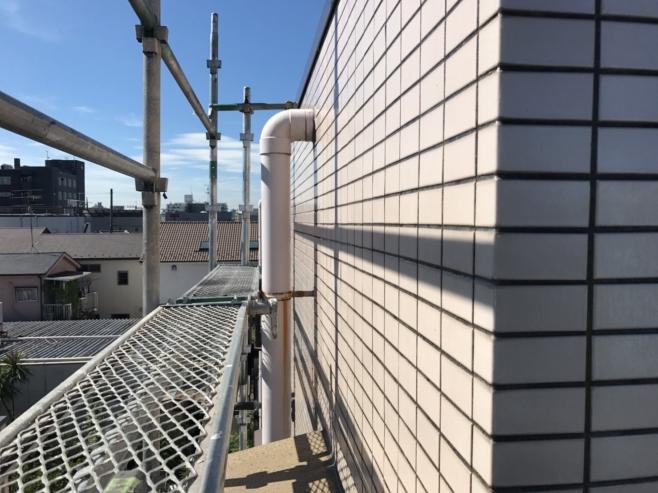 漏水のためタイル面の雨漏り補修(塗膜防水・セブンS防水)|埼玉県川口市のH様邸
