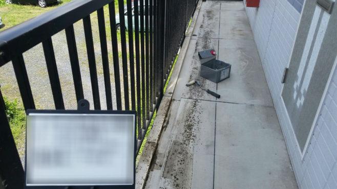 共用部の階段・廊下の雨漏り修理(ウレタン工法)と床リフォーム|さいたま市大宮区のGマンション