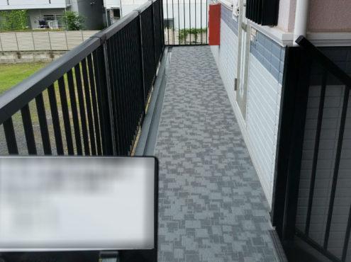 共用部の階段・廊下の雨漏り修理(ウレタン工法)と床リフォーム