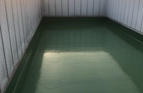 ルーフバルコニーの雨漏り修理
