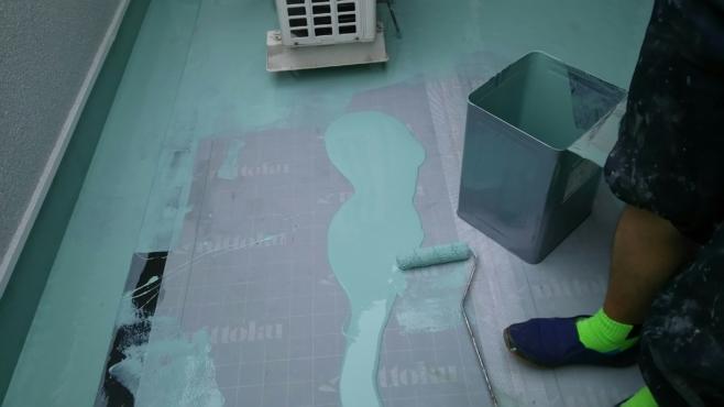 雨漏りによるベランダのウレタン防水工事(通気緩衝工法)|さいたま市大宮区にお住いのS様邸
