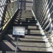 共用階段のタキステップシートの張り付け完了