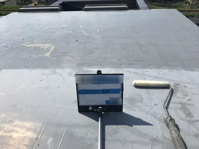 屋上のウレタン防水工事(ウレタン密着工法)|神奈川県川崎市のBマンションのリフォーム