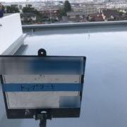 屋上の密着工法・施工完了