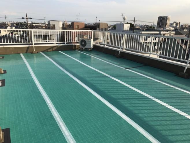 排水ドレンからの雨漏りに伴う屋上のウレタン防水工事(通気緩衝工法)|埼玉県草加市にお住いのT様邸のリフォーム