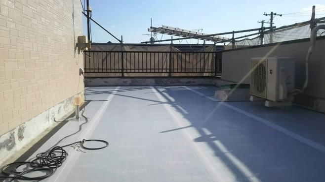 FRP防水層の劣化による雨漏り修理(ウレタン防水・通気緩衝工法)|さいたま市大宮区にお住いのI様邸のリフォーム