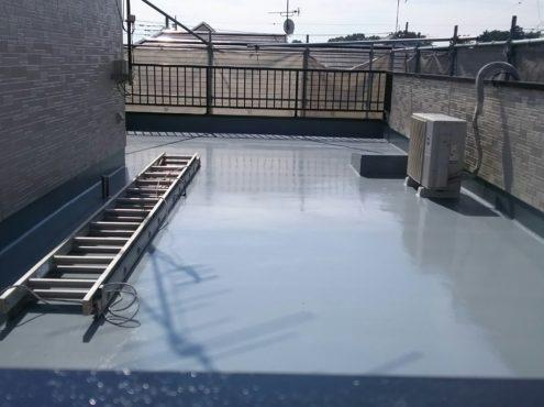屋上のウレタン防水工事(通気緩衝工法)