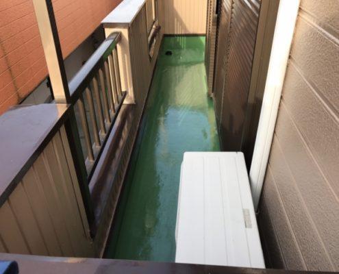 ベランダのウレタン防水工事(通気緩衝工法)