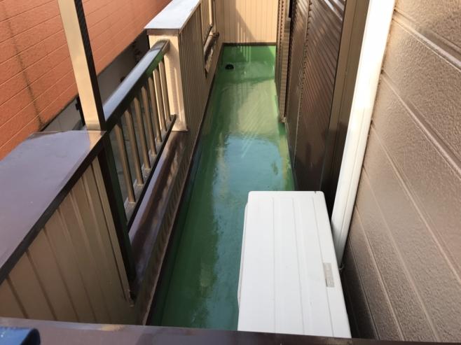 ベランダの防水トップコート劣化による雨漏り防水工事(ウレタン通気緩衝工法)|さいたま市浦和区にお住いのS様邸のリフォーム