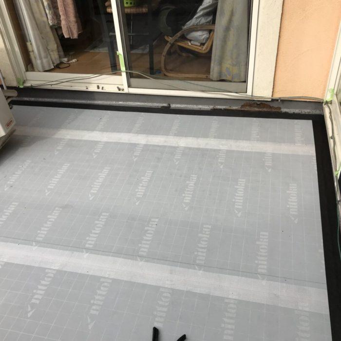 防水層劣化によるベランダの雨漏り修理(ウレタン防水通気緩衝工法)|さいたま市大宮区にお住いのI様邸のリフォーム