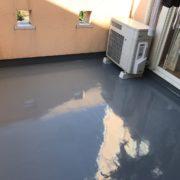 ベランダの雨漏り修理(ウレタン防水通気緩衝工法)