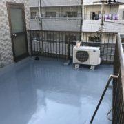 屋上のウレタン防水・施工後