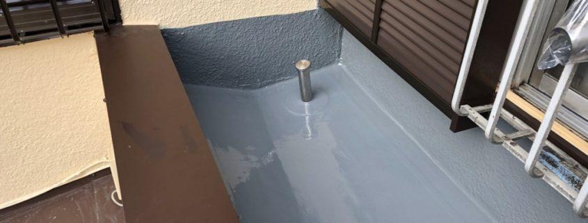ベランダ防水(通気緩衝工法)