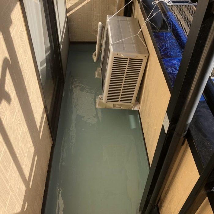 ベランダの雨漏り修理(ウレタン防水・通気緩衝工法)|千葉県船橋市のY様邸のリフォーム