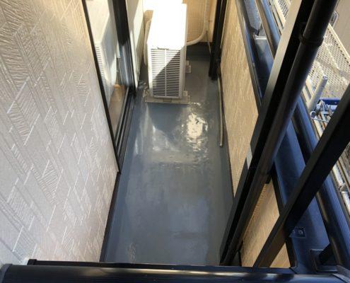 ベランダの雨漏り修理(ウレタン通気緩衝工法)
