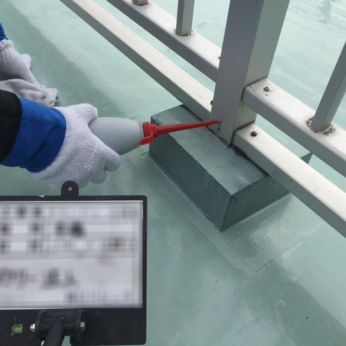 FRP防水層の劣化によるルーフバルコニーの防水工事(ウレタン通気緩衝工法)|埼玉県鴻巣市のSマンションにて雨漏り修理