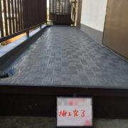 共用廊下の床のシート防水(長尺シートの張り付け)