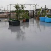 屋上防水工事(ウレタン塗膜・通気緩衝工法)