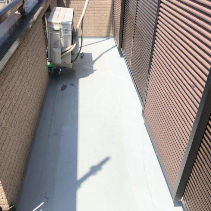 ベランダ下地を造作してからの防水工事(ウレタン通気緩衝工法)|埼玉県さいたま市大宮区のK様邸にて雨漏り補修