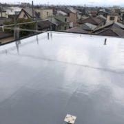 屋上の防水工事(ウレタン塗膜・密着工法)