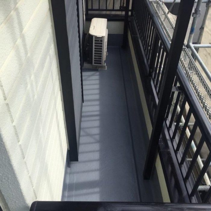 FRPによるベランダの防水工事|埼玉県さいたま市大宮区のN様邸にて雨漏り修理