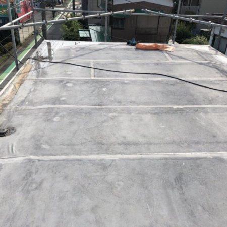 シート防水の劣化に伴う屋上の防水工事(ウレタン塗膜・通気緩衝工法)|埼玉県さいたま市大宮区のK様邸にて雨漏り修理