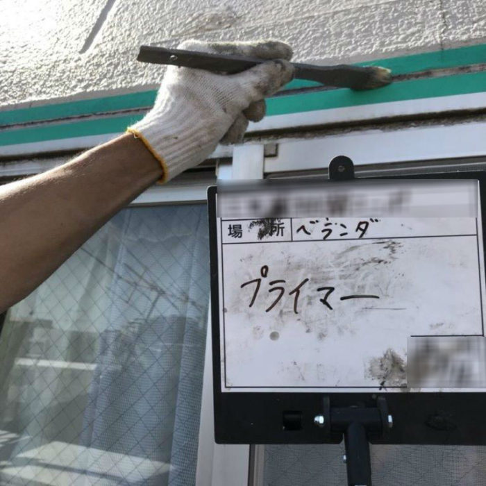 窓枠廻りのコーキング劣化に伴う防水工事(コーキング増し打ち)|神奈川県大和市のRマンションにて外壁補修