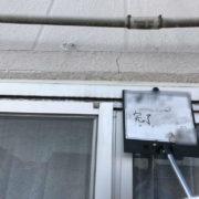 窓枠のコーキング補修工事