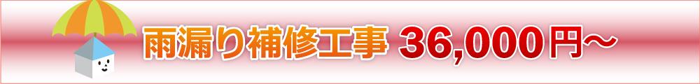 雨漏り補修工事 36,000円~