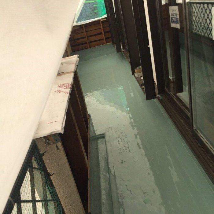 ベランダの防水工事(ウレタン通気緩衝工法)|東京都調布市のT様邸にて雨漏り修理