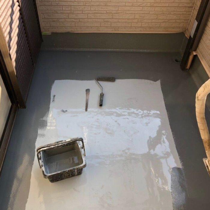 ベランダの防水工事(ウレタン塗膜通気緩衝工法)|千葉県船橋市のM様邸にて雨漏り修理