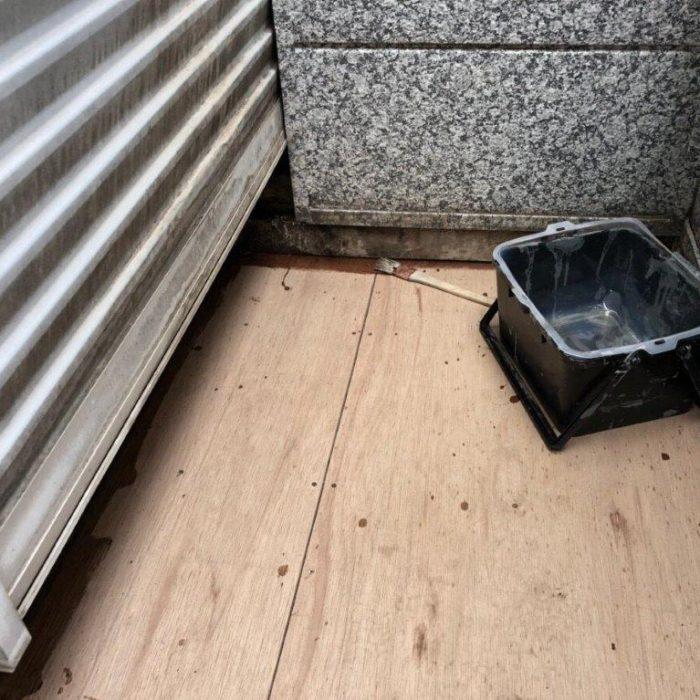 木造コンパネ造作後のベランダ防水工事(ウレタン塗膜・通気緩衝工法)|千葉県船橋市のT様邸にて雨漏り修理
