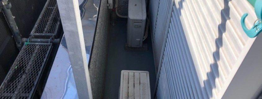 ベランダの防水工事(ウレタン通気緩衝工法)